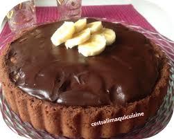 jeux de cuisine tarte au chocolat tarte renversée chocolat banane le de cestsalimaquicuisine