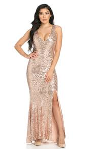 gold maxi dress geo pattern sequin design open back side slit mermaid maxi