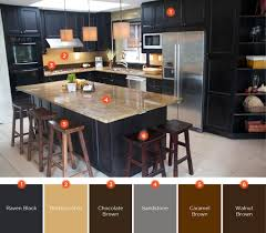 kitchen color schemes with brown cabinets 20 enticing kitchen color schemes shutterfly