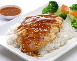 cuisine au miel recette poulet au miel et à la moutarde riz et petits légumes