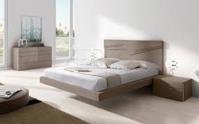 floating bed double contemporary with headboard aris plus