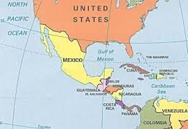 map us mexico border states map us mexico central america map usa and central america 6
