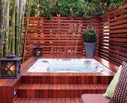 angeles tub enclosure pool contemporary with relaxing fence