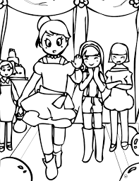 fashion show coloring page handipoints
