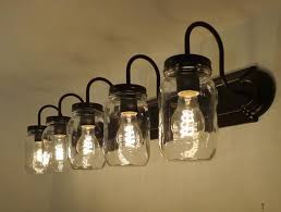 Bathroom Light Fixtures Impressive Ideas Decor A Mason Jar Light Bathroom Light Fixtures