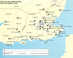 Britain Map Asisbiz Artwork Showing A Map Of Battle Of Britain Airfields Of