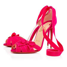 christian louboutin rosa pink christeriva grosgrain ribbon suede
