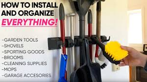 broom and mop holder berry ave organizer how to install the