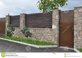 brick wall fence designs great brick u wood fence with brick wall