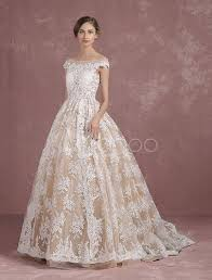 Champagne Wedding Dresses Lace Wedding Dress Champagne Bridal Gown Bateau Illusion Neckline
