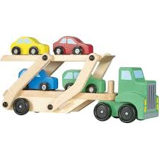 car carrier truck melissa u0026 doug car carrier truck u0026 cars wooden toy set u2013 hart