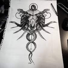 collection of 25 demonic octopus designs