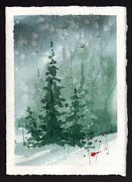 this christmas card takes less than 5 minutes of painting time so