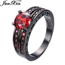 aliexpress buy junxin new arrival black aliexpress buy junxin black gold filled zircon ring