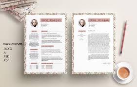 vintage floral cv resume template m resume templates creative