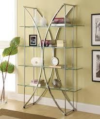 chrome bookcase 910050 by coaster home furnishings u0026 ideas