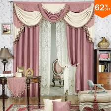 White Taffeta Curtains Aliexpress Com Buy Pink Ivory White Luxurious Best Bed Room