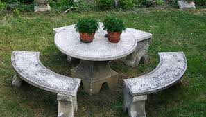 round cement picnic tables diy concrete picnic table garden guides