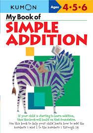 my book of simple addition kumon workbooks kumon publishing