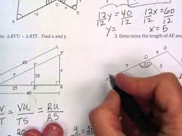 similar triangle review worksheet youtube