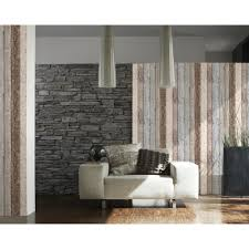 as creation painted wood beam faux effect textured wallpaper 855039