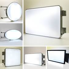 Outdoor Light Box Signs Affordable Illuminated Led Signs Charismadesign Ie