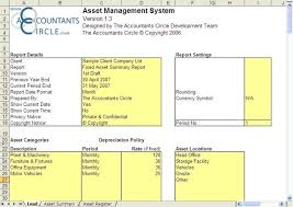 Fixed Asset Register Excel Template Asset Management System Excel Templates For Bookkeeping And