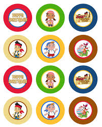 jake land pirates cupcakes free cupcake toppers
