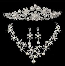 wedding earring necklace set images Wedding jewellery sets for brides earrings necklace and tiaras jpg
