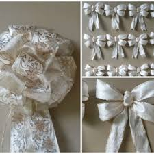 White Bows For Tree Gold Swirl Tree Topper Bow Set From Premiergiftsolutio