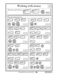 2nd grade 3rd grade math worksheets dollars and cents greatschools