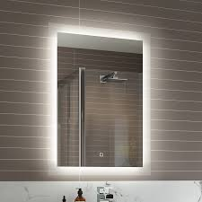 Backlit Mirrors Bathroom Bathroom Appealing Led Vanity Light Bar Fixtures Mirror With Also