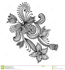 ornate flower design stock photography image 28653782