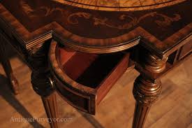 Corner Writing Desk by High End Home Office Inlaid Mahogany Writing Desk