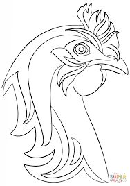 abstract hen coloring page free printable coloring pages