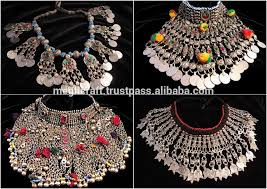 ethnic necklace jewelry images Afghan silver kuchi necklace ethnic tribal jewelry vintage kochi jpg