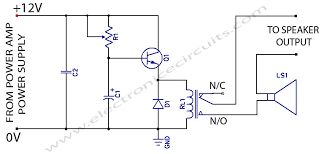 speaker protection circuit schematic electronic pinterest