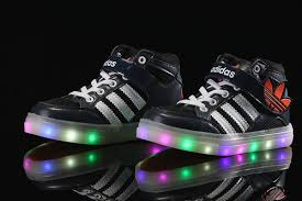 light up high tops nike adidas light up navy blue shoes for kids multicolored led lighting 4 jpg