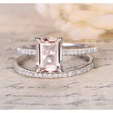 pink morganite 1 50 carat pink morganite emerald cut morganite and