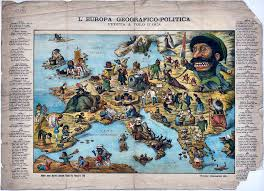 Map Of Europe Game by Italian Satirical Map Of Europe 1870 Playing In The World Game