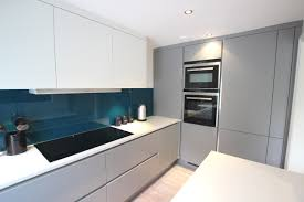 modern kitchen splashbacks statement teal glass splashback teal splashback