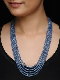 sapphire bead necklace images Buy blue sapphire beaded multi string necklace online at jpg