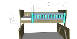 Plans For Wooden Bunk Beds by Free Woodworking Plans To Build An Rh Inspired Kenwood Twin Over