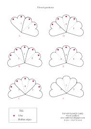 crafticious pop up card valentine flowers