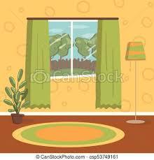 home interior vector retro living room vintage cozy home interior vector clip