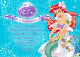 ariel birthday invitations ideas u2013 bagvania free printable