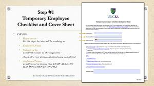 employees information sheet 401 steps and procedures step 1 temporary employee checklist and