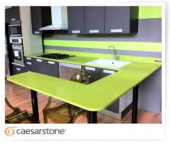 shows colors that go well with bright green countertops light