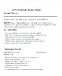 resume exles entry level accounting clerk salaries in new york sle resume for accounting clerk