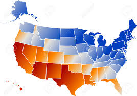 Map Of The Usa With States by Vector Clip Art Map Of United States Of America Usa With All